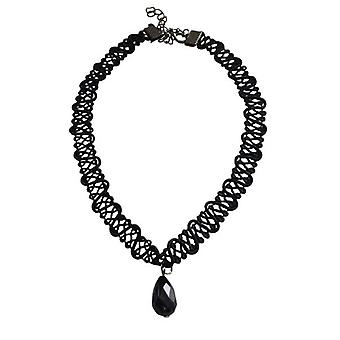 Cool twisted statement choker necklace with drop