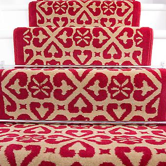 70cm Width -  Traditional Moroccan Red Stair Carpet