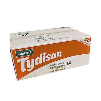 Tydisan Sanded Sheets Red Large Bulk 43x28cm (Pack of 160)