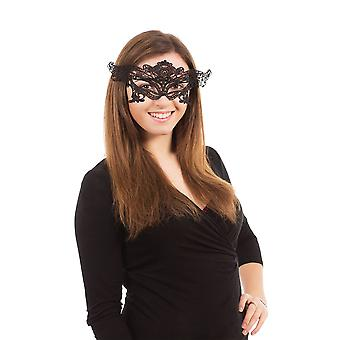 Lace Eyemask Ribbon Tie Symmetrical