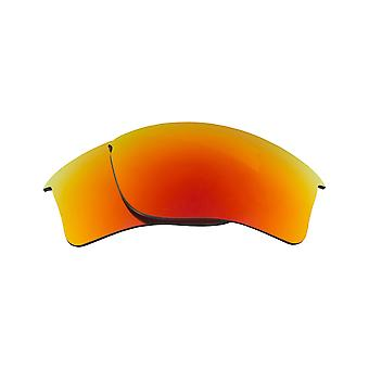 New SEEK Polarized Replacement Lenses for Oakley FLAK JACKET XLJ Red Mirror