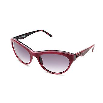 Just Cavalli féminines Cat Eye lunettes de soleil rouge/Dark Rose