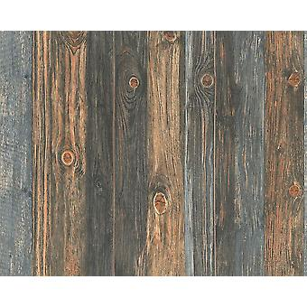 Wood Effect Wallpaper Wooden Panel Grain Realistic Distressed Non-Woven