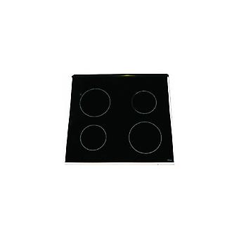 Indesit Ceramic Glass Hob Top with White Trim