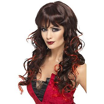 Wig sexy lady red long and curly