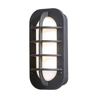 Konstsmide Loke Matt Black Wall Light