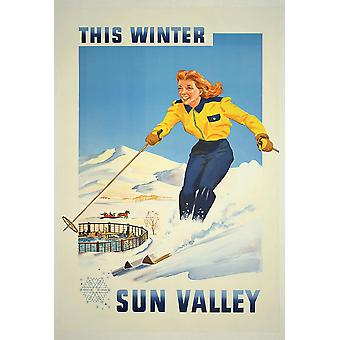 This Winter Sun Valley Poster Print Giclee