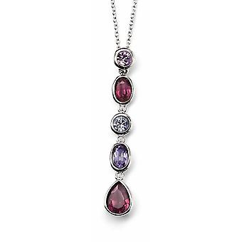 925 Silver Crystal Necklace Necklace