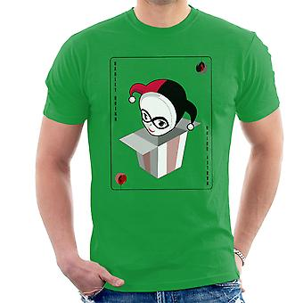Harley Quinn Suicide Squad Christmas Playing Card Men's T-Shirt