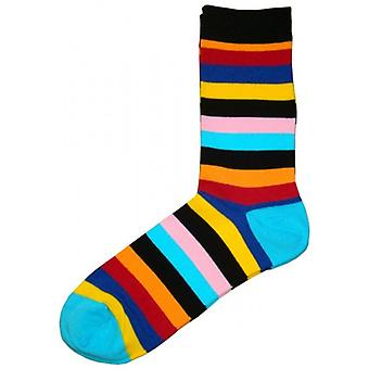 Bassin and Brown Multi Stripe Socks - Multi-colour
