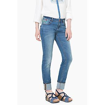 Desigual women's jeans with embroidery of denim Refriposas