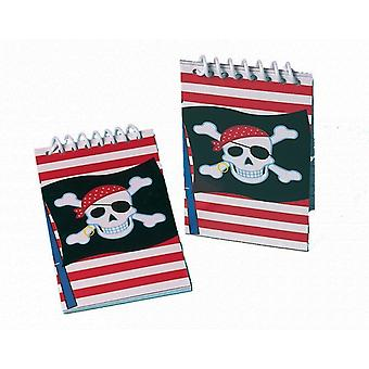 12 Pirate Spiral Note Pads - Party Bag Favours