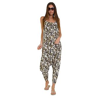 Jersey Jumpsuit - Camo Cream Drop Crotch Lightweight Stretch Relaxed Fit Playsui
