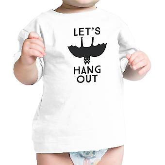 Let's Hang Out Bat Funny Infant Tshirt White Baby First Halloween