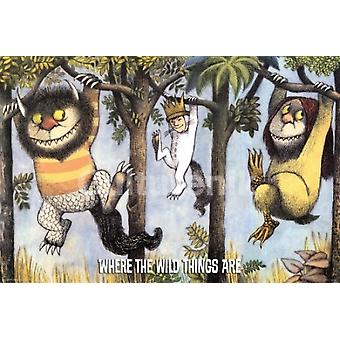 Where The Wild Things Are Hanging From Trees Poster Poster Print
