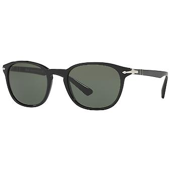 Persol 3148S wide black shiny Green