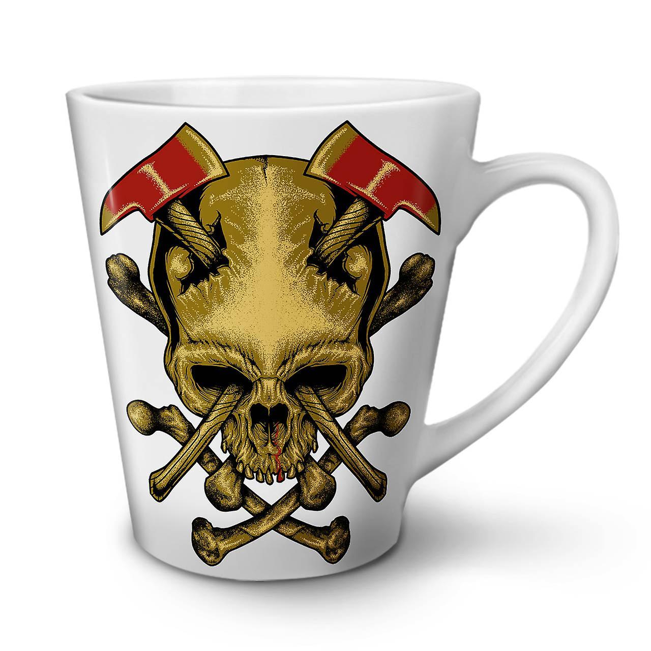 Hache OzWellcoda 12 Café De Nouvelle Le Céramique Goth Tasse En Crâne Guerre Blanche Latte Mort xodBWECeQr