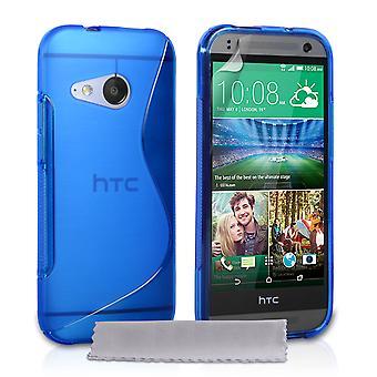 Caseflex HTC One Mini 2 Silicone Gel S-Line Case - Blue