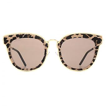 Jimmy Choo Nile Sunglasses In Gold Leopard