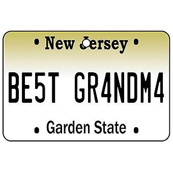 New Jersey - Best Grandma License Plate Car Air Freshener