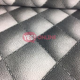 3D Headboard Wallpaper Leather Chesterfield Padded Quilt Diamond Faux Grey