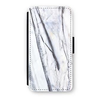 Huawei P9 Flip Case - Striped marble