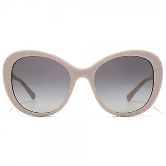 Giorgio Armani Timeless Elegance Curved Cateye Sunglasses In Sand Beige