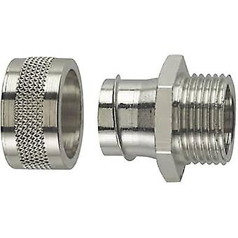 HellermannTyton 166-31001 PSC12-FM-M16 HelaGuard Metallic Conduit Screw Fitting Nickel-plated brass Metal
