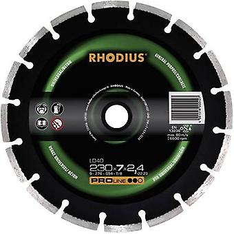 Diamond cut-off wheel, segmented Rhodius 394137 Diameter 125 mm Inside d