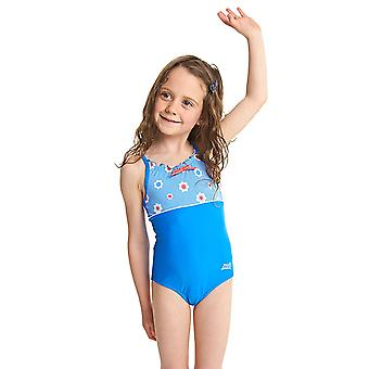 ZOGGS Girls Holiday Classicback Swimsuit - Blue/Multi