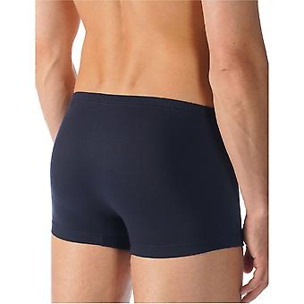 Mey 34221 Men's Network Marine Blue Cotton Fitted Boxers