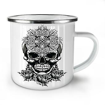 Evil Satan Head Skull NEW WhiteTea Coffee Enamel Mug10 oz | Wellcoda