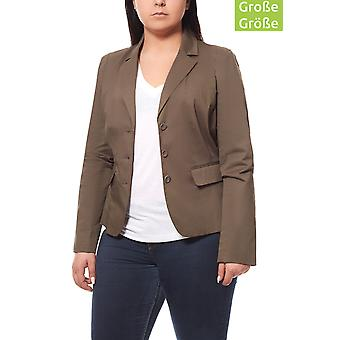 Short Blazer Blazer plus size Brown PATRIZIA DINI