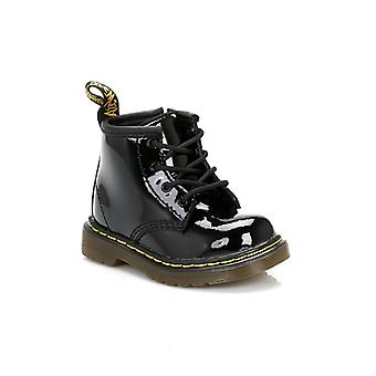 Dr. Martens Toddler Brooklee Black Patent Leather Boots