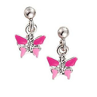 Scout Children earrings pierced earrings silver butterfly pink girl 262113100