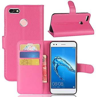 Pocket wallet premium Pink for Huawei Y6 Pro 2017 / enjoy 7 protective sleeve case cover pouch new