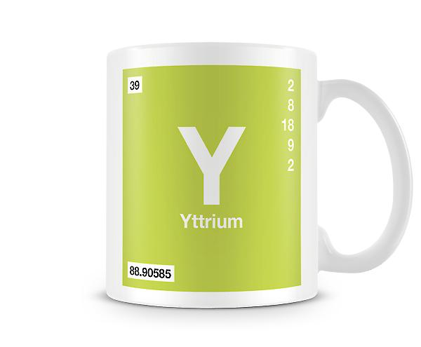 Element Symbol 039 Y - Yttirum Printed Mug