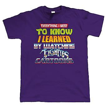 80s Cartoons, Mens Retro Throwback T-Shirt | Teenage Ninja Thunder Turtles Eighties Transformer | Timeless Retro Vintage Iconic Seminal Memorable | TV & Movie Gift Him Dad