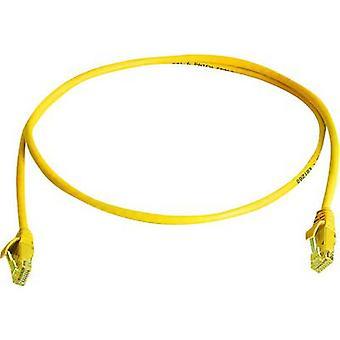 Telegärtner des réseaux RJ45 câble CAT 6 U/UTP 1 m jaune ignifuge, sans halogène