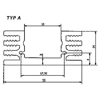 Heat sink 4.5 C/W (L x W x H) 50 x 32 x 14 mm TO 220, TO 126 Fischer Elektronik SK 75 50 SA