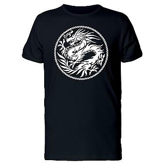 White Dragon In A Round Frame Tee Men's -Image by Shutterstock