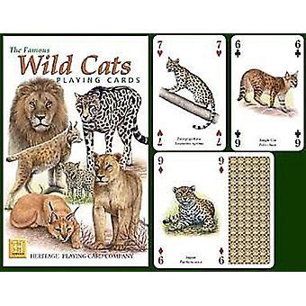 Wilde katten Set van 52 speelkaarten (+ Jokers)