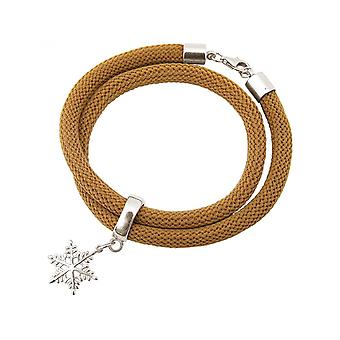 -Bracelet - bracelet - 925 Silver - snowflake - Brown