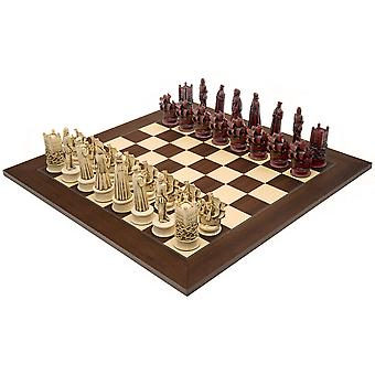 The Berkeley Chess Elizabethan Cardinal Palisander Grand Chess Set