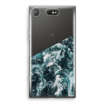 Sony Xperia XZ1 Compact Transparant Case (Soft) - Ocean Wave