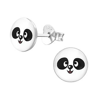 Panda - 925 Sterling Silver Colourful Ear Studs
