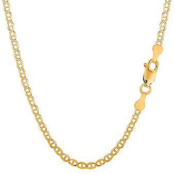14 k gul guld Mariner Link kæde halskæde, 3,2 mm
