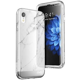 iPhone XR Case, [Unicorn Beetle Stella] with Built-in Screen Protector Premium Hybrid Glitter Case 2018 Release (Marble)