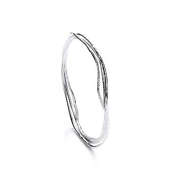 Cavendish francuski delikatny srebrny 3 bransoletka pierścień