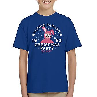 Ralphie Parkers Christmas Party Kid's T-Shirt